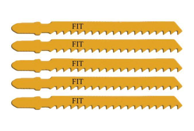 Пилки для лобзика Fit 41111 пилки для лобзика по дереву набор 5 шт стандарт
