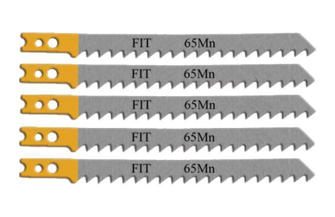 Пилки для лобзика Fit 41113 пилки для лобзика по дереву набор 5 шт стандарт