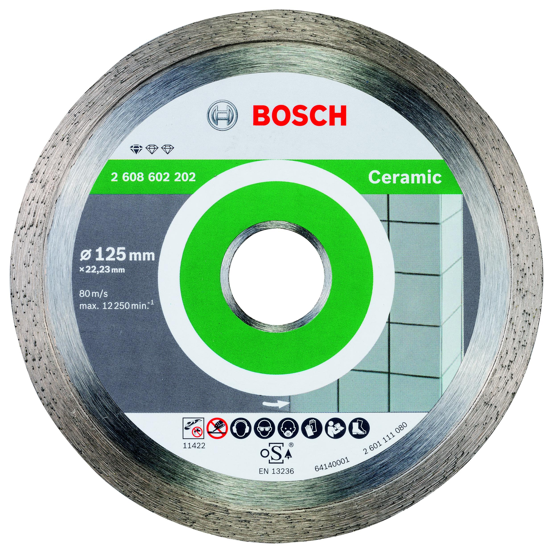 Круг алмазный Bosch Standard for ceramic 125x22 корона (сплошной)(2.608.602.202) алмазный диск bosch standard for ceramic 115 22 23 2608602201