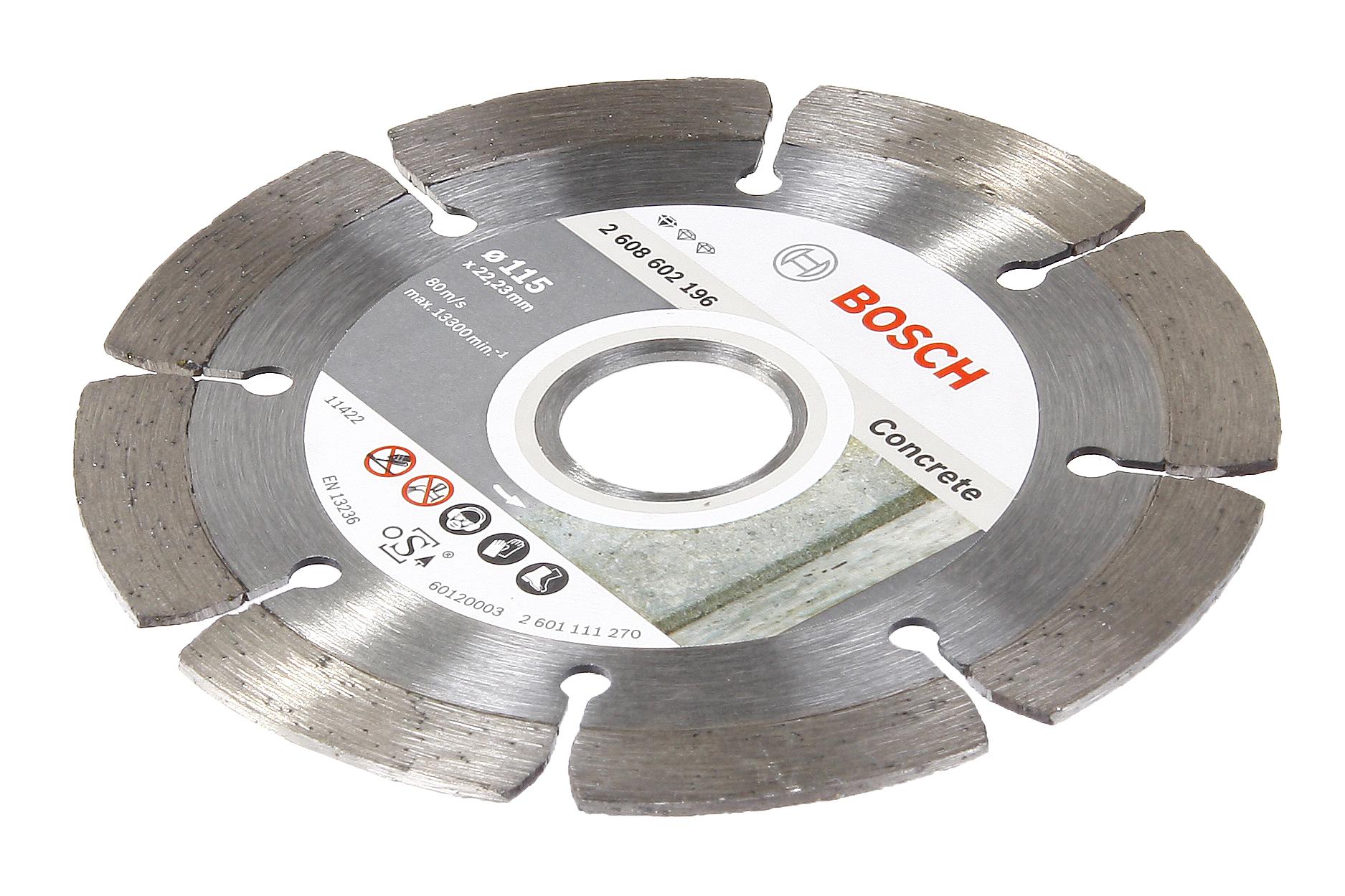 Круг алмазный Bosch Standard for concrete 115x22,2 сегмент (2.608.602.196) круг алмазный bosch expert for concrete 450x25 4 сегмент 2 608 602 563