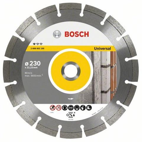 Круг алмазный Bosch Standard for universal 115x22 сегмент (2.608.602.191) круг отрезной hammer flex 115 x 1 0 x 22 по металлу и нержавеющей стали 25шт