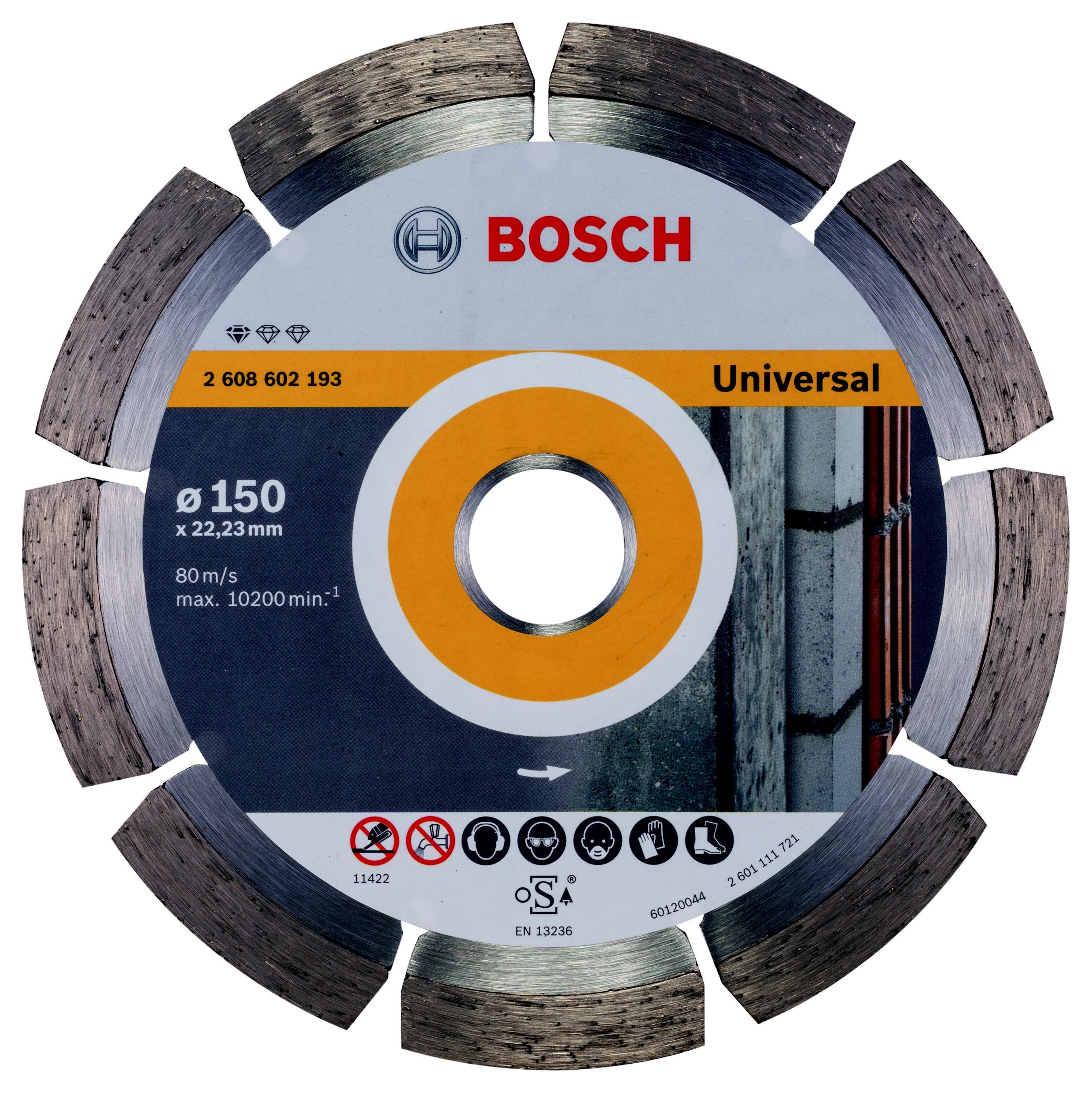 Круг алмазный Bosch Standard for universal 150x22 сегмент (2.608.602.193) 1000pcs universal viton oring seals gb3 100 asnu08c for universal bosch fuel injection injector ay o2012