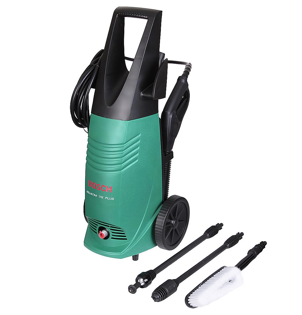 Мойка высокого давления Bosch Aquatak 115 plus - это успешная покупка. Ведь заказать товары фирмы Bosch - это выгодно и цена нормальная.