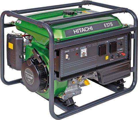 Бензиновый генератор Hitachi E57s бензиновый бензиновый генератор hitachi e 50 3p