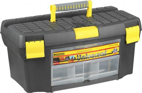 Ящик для инструментов Stayer 2-38011-21.5 кернер с протектором 300 мм stayer стандарт 2140 30