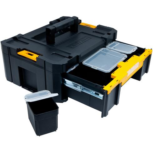 Ящик для инструментов Stanley Dewalt tstak ящик для инструмента dewalt tstak iv с двумя выдвижными секциями