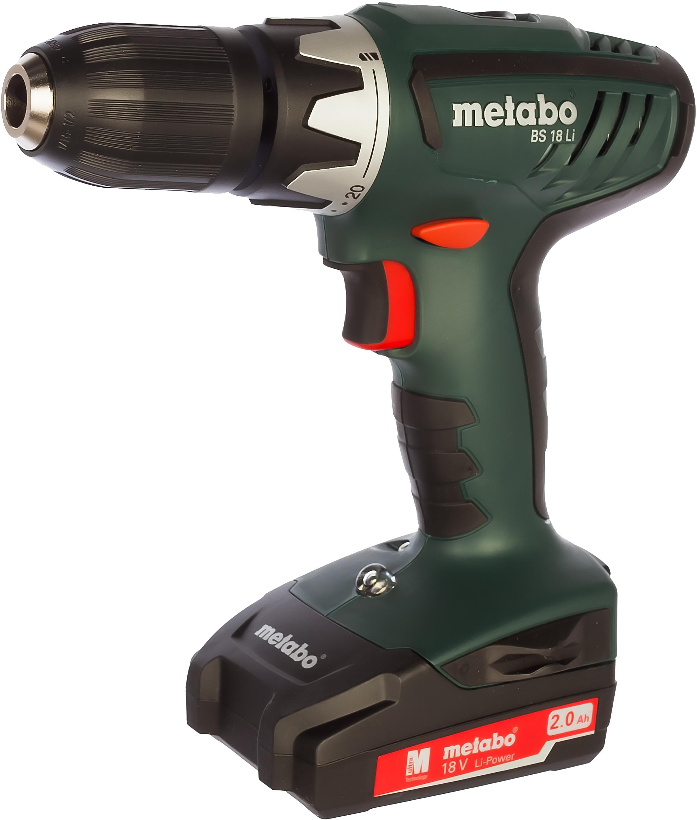Дрель аккумуляторная Metabo Bs 18 li (602116530) электроинструмент metabo bs18li 2х2 0 13mm sc60 602116530