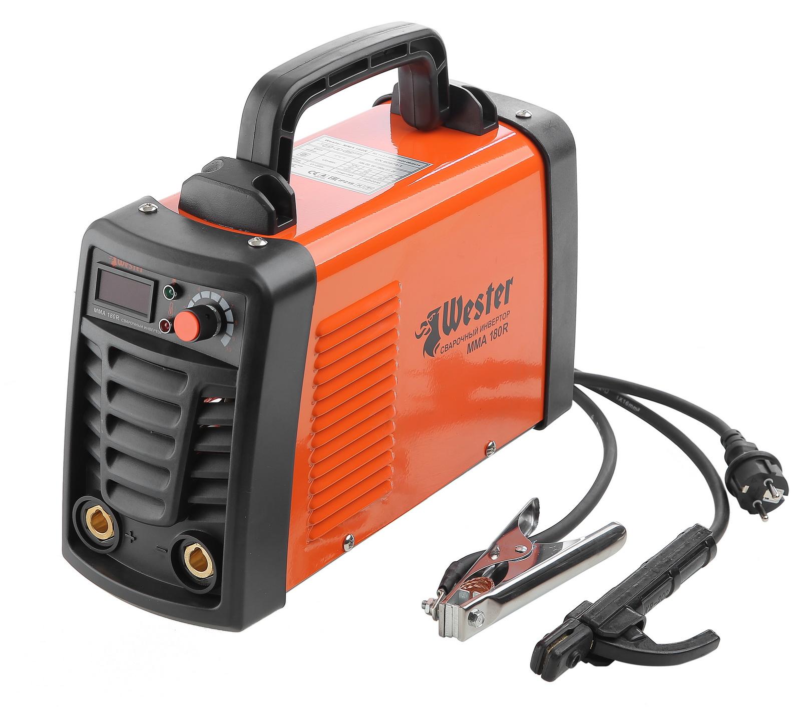 Сварочный аппарат Wester Mma180 r инверторный аппарат кедр mma 180 f 00000001111