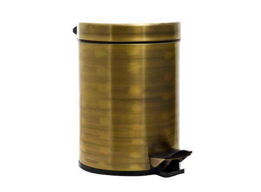 Ведро для мусора FUENTE REAL (REAL 2441BR-5L) с педалью, бронза