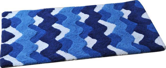 Коврик для ванной ForaАксессуары для ванной комнаты<br>Назначение аксессуара: коврик для ванной,<br>Цвет покрытия: голубой,<br>Материал: ткань,<br>Ширина: 600,<br>Глубина: 1000<br>