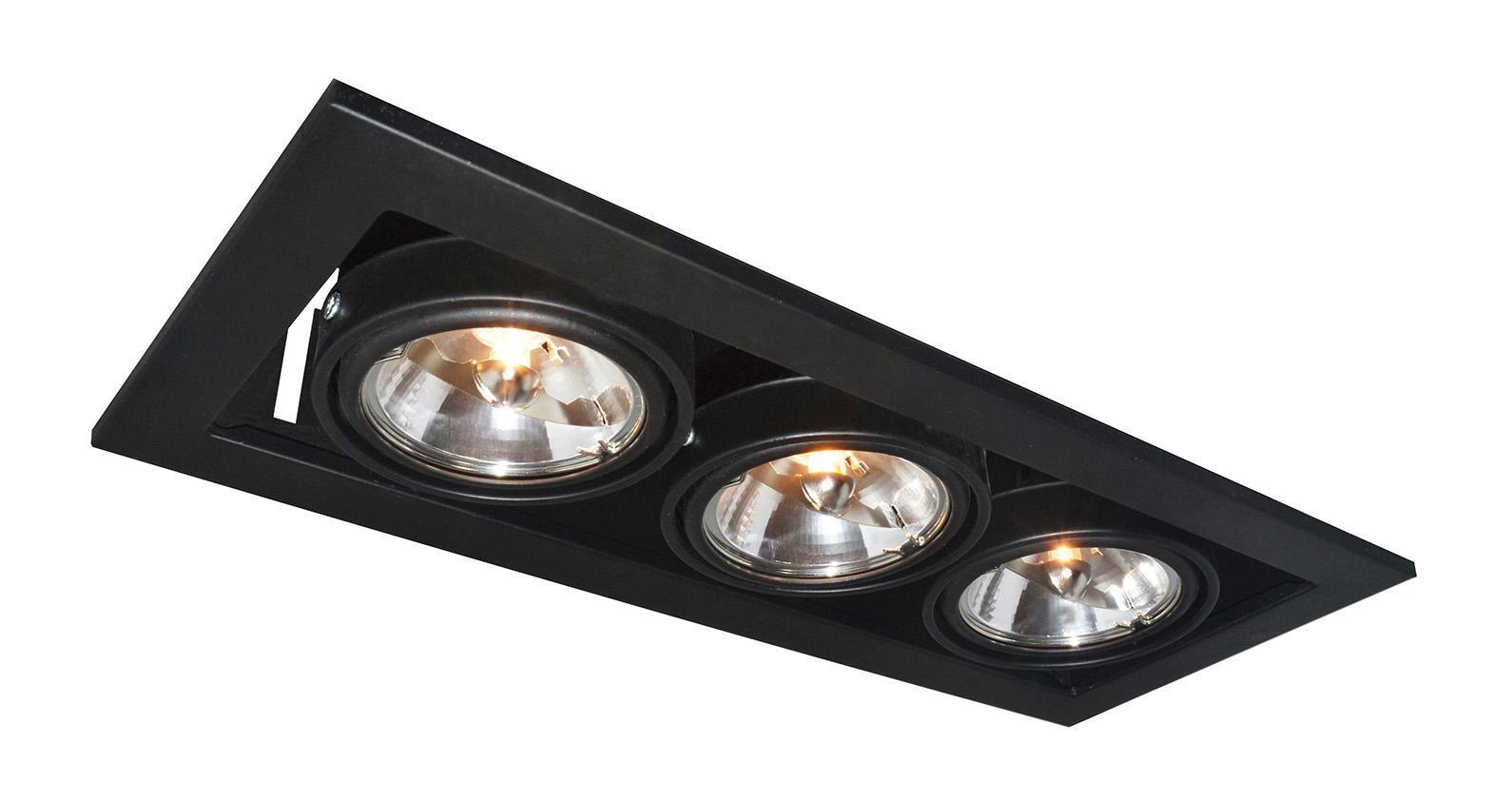 Купить Светильник встраиваемый Arte lamp A5930pl-3bk