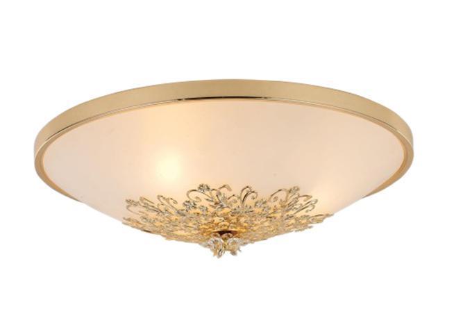 Светильник настенно-потолочный Arte lampСветильники настенно-потолочные<br>Мощность: 40,<br>Количество ламп: 3,<br>Назначение светильника: для комнаты,<br>Стиль светильника: флористика,<br>Материал светильника: металл, стекло,<br>Тип лампы: накаливания,<br>Высота: 140,<br>Диаметр: 400,<br>Патрон: Е14,<br>Цвет арматуры: золото,<br>Вес нетто: 2<br>