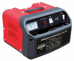 Зарядное устройство Elitech УЗ 30/20 аккумулятор для легкового автомобиля fb specialist 60b24l fb7000 ач48 470en