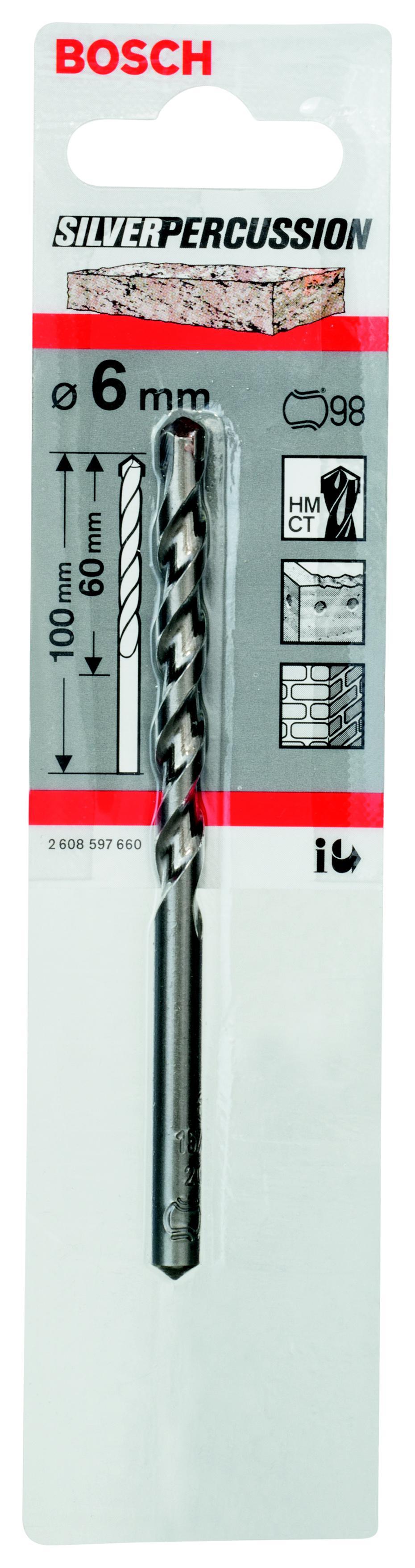 Сверло универсальное Bosch Cyl-3 6.0 мм (2.608.597.660) сверло универсальное bosch cyl 9 multiconstr
