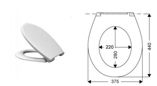 Сиденье для унитаза Vidima W301001 от 220 Вольт