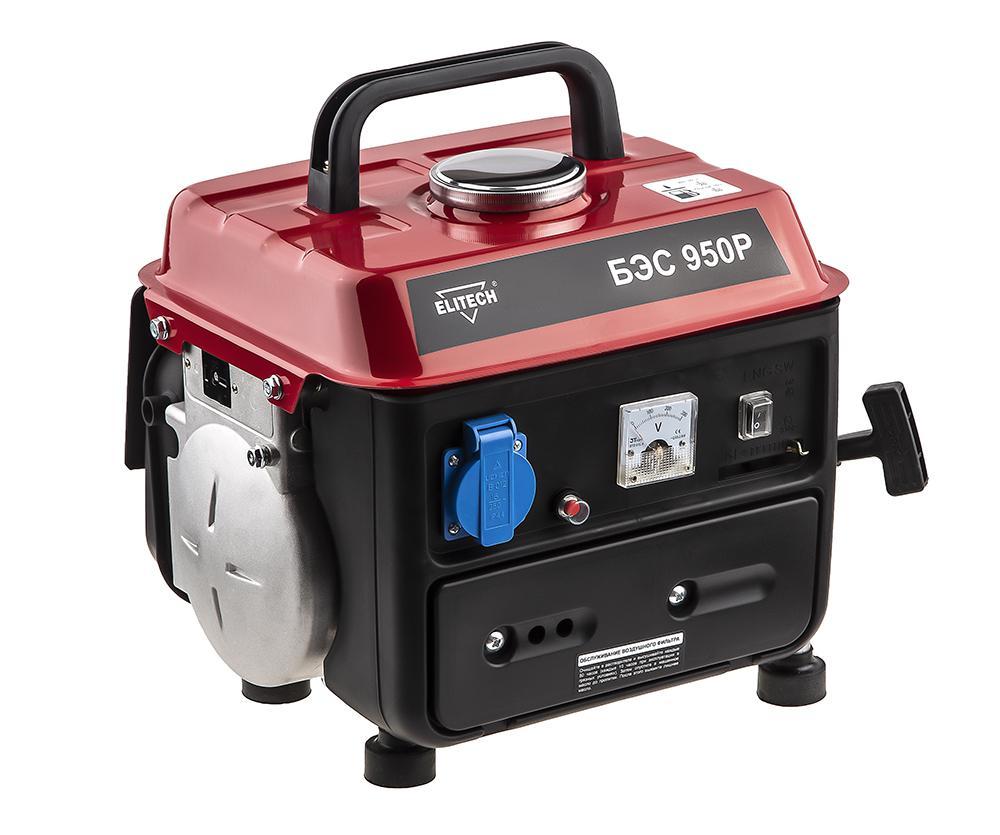 Бензиновый генератор Elitech БЭС 950 Р генератор бензиновый tsunami ges 950