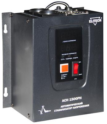 Стабилизатор напряжения Elitech АСН 1500РН стабилизатор напряжения elitech асн 3000е
