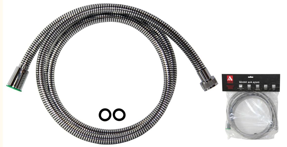 Шланг душевой Argo Agd 22.436cb 150 p гарнитуры душевые argo набор для биде лейка шланг кронштейн argo dina блистер