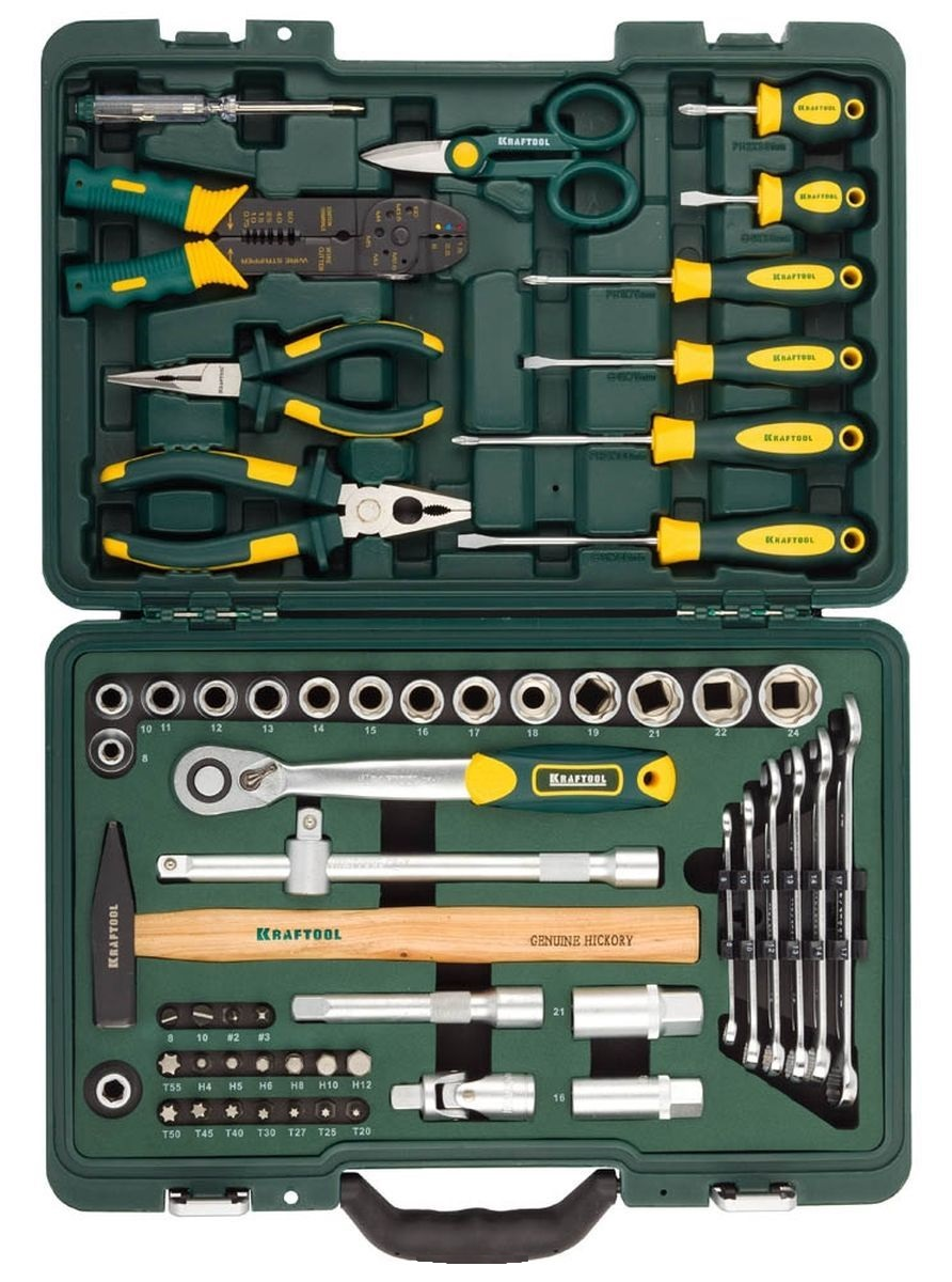 Набор инструментов Kraftool 27977-h59 set of hand tools kraftool 27977 h84