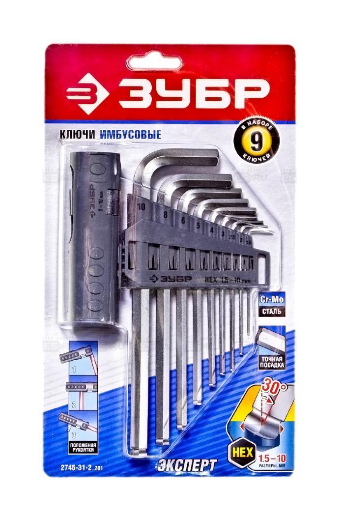 Набор шестигранных ключей ЗУБР 2745-31-2_z01 набор ключей зубр 27028 h12