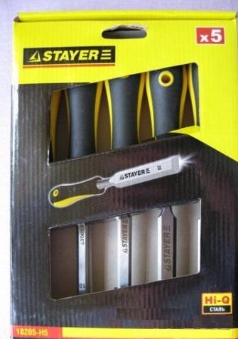 Набор стамесок Stayer 18205-h5
