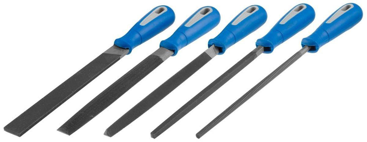 Набор напильников по металлу ЗУБР 16651-20-h5 гастроном дели s26 офис гелевая ручка ручка углерода ручка ручка черная 0 7mm 12 палочки