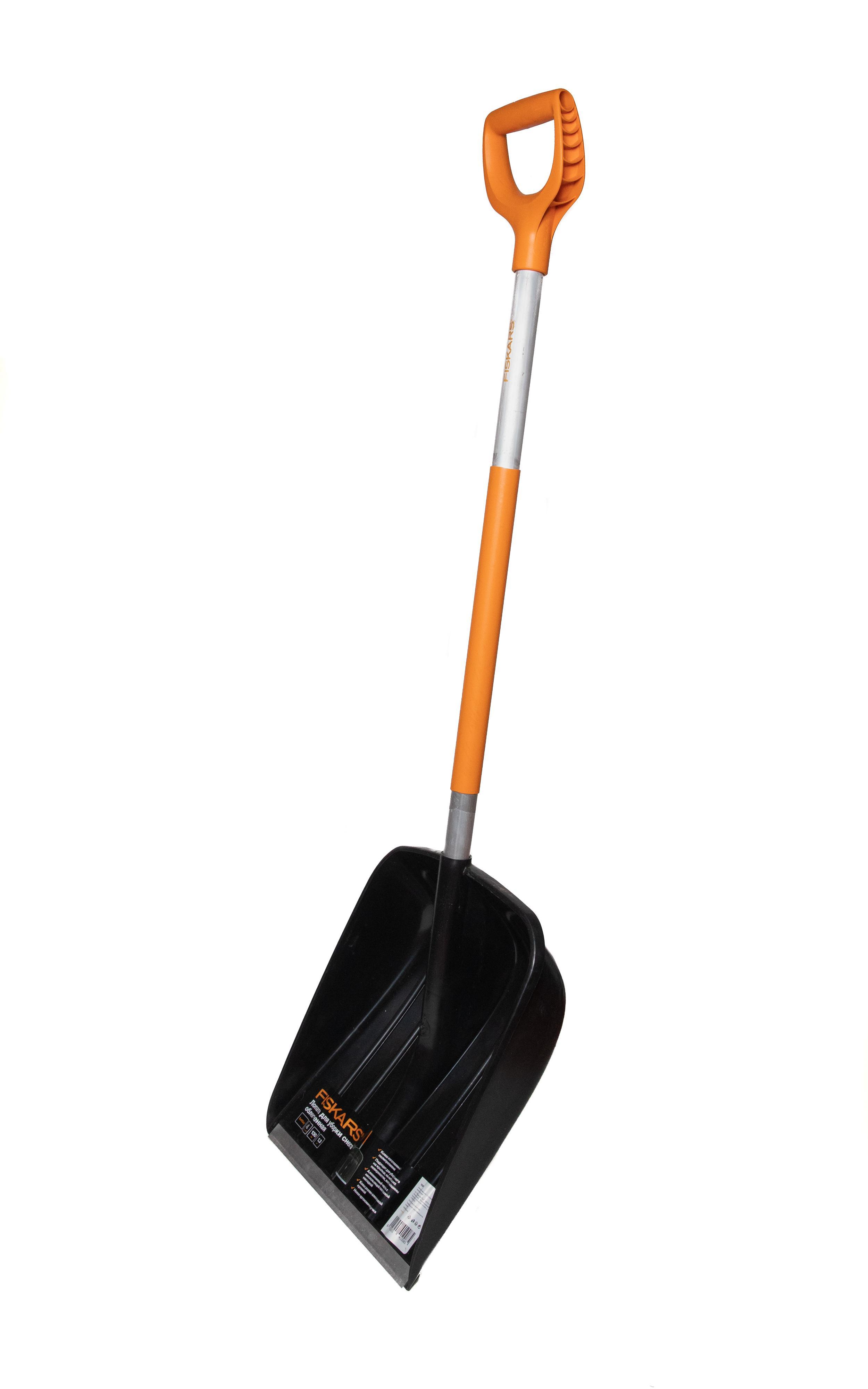 Лопата для снега облегченная Fiskars 1026793 лопата универсальная stels черенок из морозостойкого пластика 205 х 260 мм
