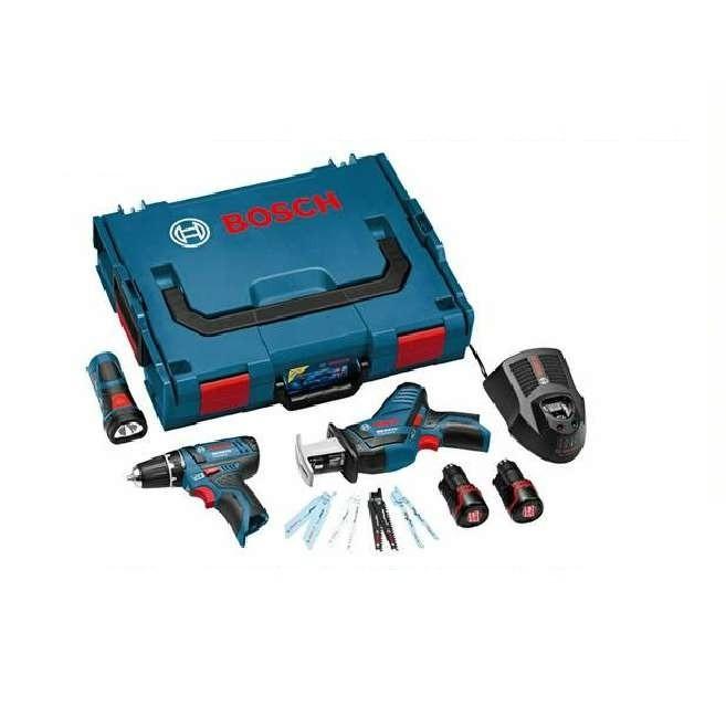 Набор Bosch (g02): gsr + gsa + gli (0.615.990.g02) аккумуляторная сабельная ножовка bosch gsa 10 8v li 0 601 64l 902