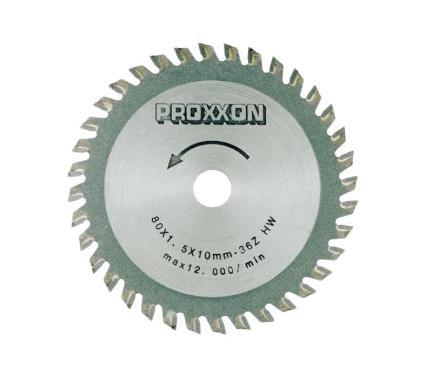 Диск пильный твердосплавный PROXXON Ф80х10мм 36зуб. (28732)