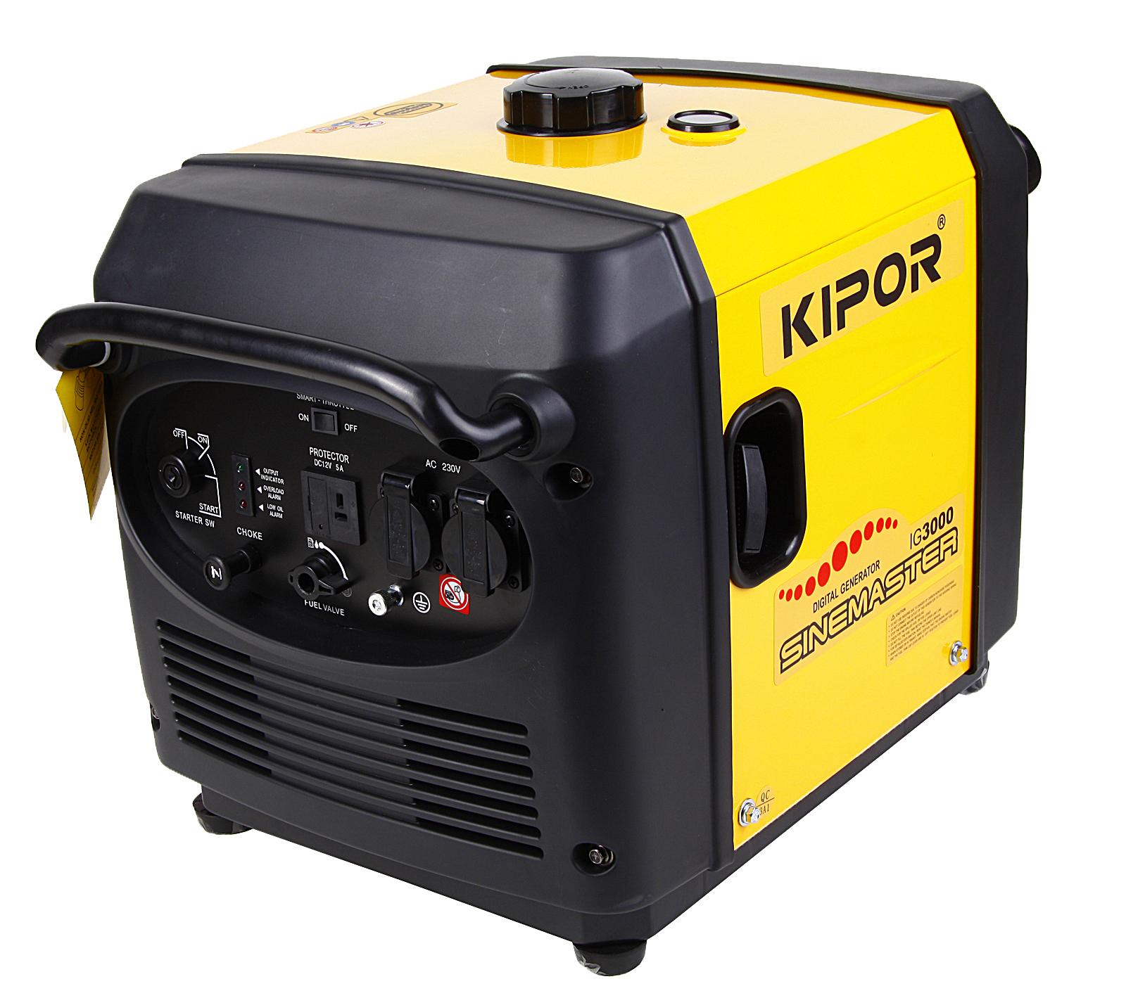 220 Вольт - Купить Инверторный бензиновый генератор KIPOR IG 3000 в Белгороде - цена, характеристики, фото, отзывы...