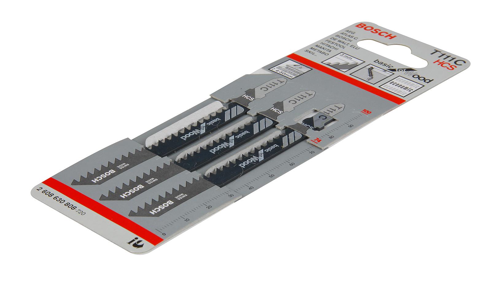 Пилки для лобзика Bosch T111c (2.608.630.808) пилки для лобзика по дереву для прямых пропилов bosch t111c 4 50 мм 5 шт