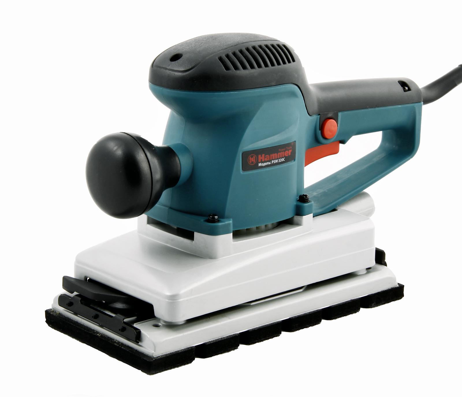 Машинка шлифовальная плоская (вибрационная) Hammer Psm320c premium