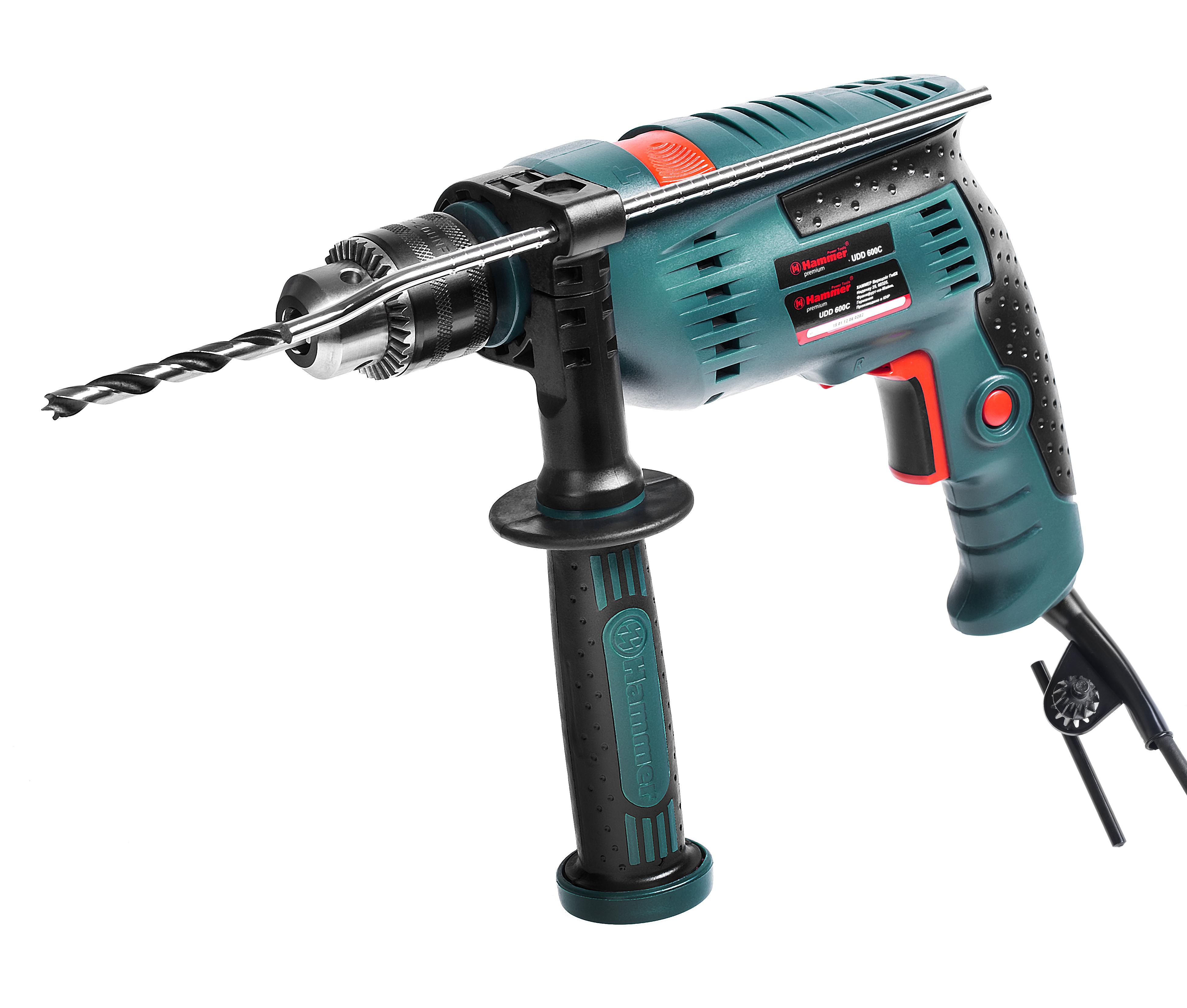 Дрель ударная Hammer Udd600С premium дрель ударная hammer udd1100a