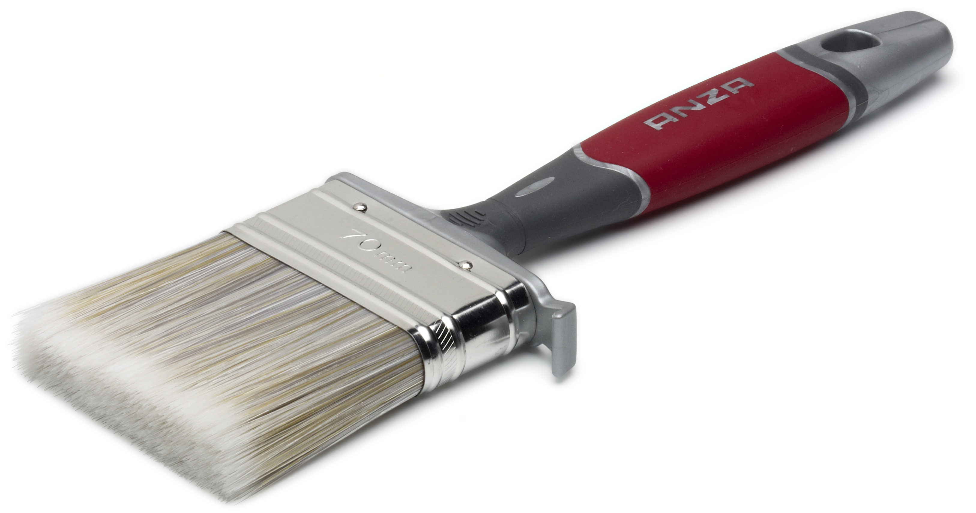 Кисть флейцевая Anza 150470 кисть плоская 70 мм искусственная щетина прорезиненная ручка anza профи