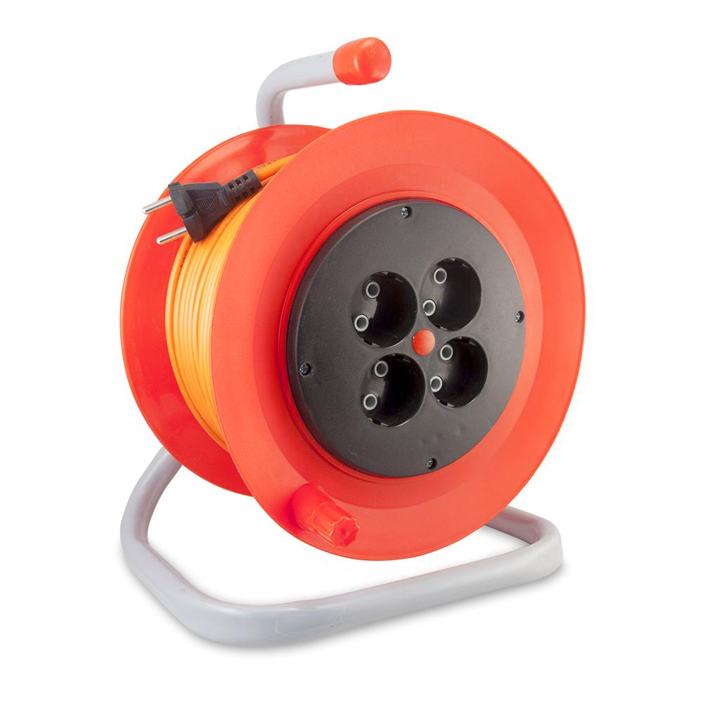 Удлинитель Lux К4-О-25 удлинитель силовой lux к4 о 25 25 метров 10а пвс 2x0 75