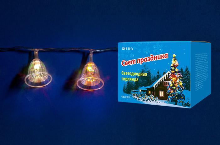 Гирлянда Uniel Uld-s0280-020/dta rgb ip20 bells гирлянда light светодиодная нить rgb 10 м 24v чёрный провод