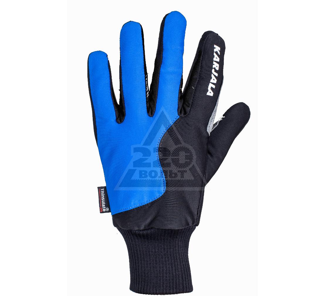 Перчатки для беговых лыж KARJALA Thinsulate/замша сине-черные