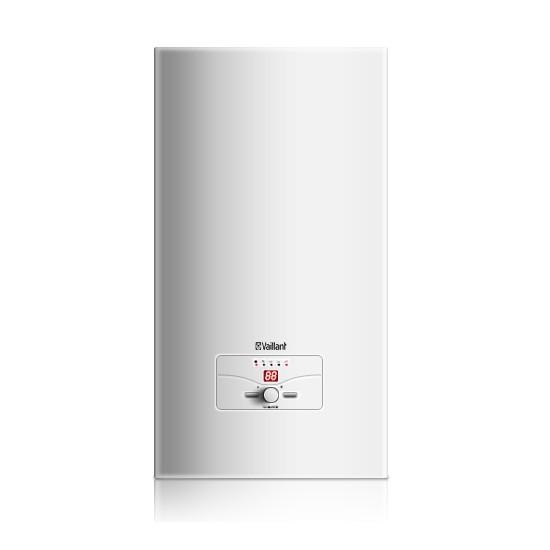 Электрический котел VaillantКотлы электрические<br>Мощность (кВт): 24,<br>Высота: 740,<br>Длина (мм): 310,<br>Ширина: 410,<br>Тип установки: настенный,<br>Напряжение: 380,<br>Количество контуров: 1,<br>Три фазы: есть<br>