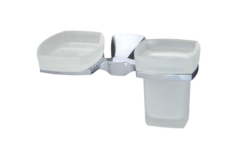 Держатель WasserkraftДержатели для ванной комнаты<br>Назначение: для стакана,<br>Цвет покрытия: хром,<br>Материал: стекло,<br>Способ крепления: на стену,<br>Высота: 100,<br>Ширина: 205,<br>Глубина: 105<br>