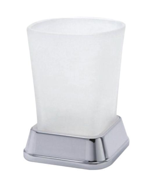 Настольный стакан Wasserkraft Amper k-5428 стекло, белый матовый