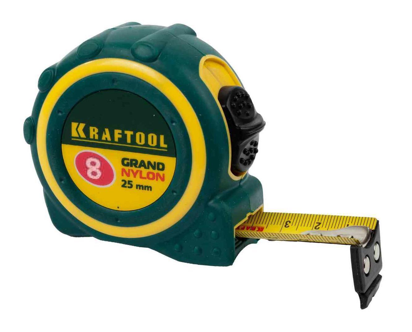 Рулетка Kraftool 3412-08_z01 плоская кисть kraftool klassik 1 01013 25