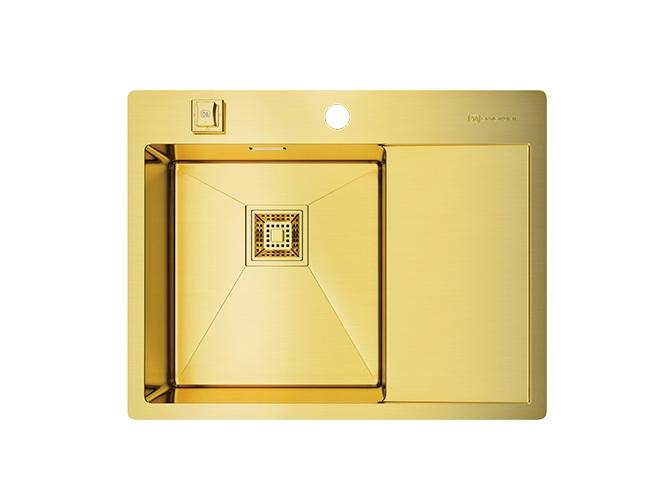 Мойка кухонная Omoikiri Akisame 65-lg-l - Светлое золото  смеситель для кухонной мойки bliss l am pm
