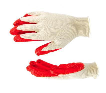 Хлопковые перчатки с латексной ладонью РУССКИЙ ИНСТРУМЕНТ 67724