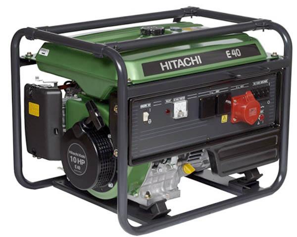 Бензиновый генератор Hitachi E40 (3p) бензиновый генератор hitachi e40 зр