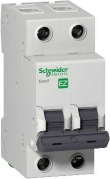 Автомат Schneider electric Easy9 ВА 2П 16А c 4.5кА передняя панель schneider electric с вырезом 5 модулей 03205