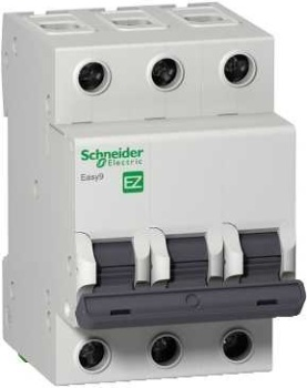 Автомат Schneider electric Easy9 ВА 3П 16А c 4.5кА передняя панель schneider electric с вырезом 5 модулей 03205