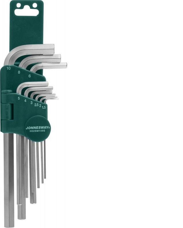Набор шестигранных ключей Jonnesway H02sm109s набор торцевых шестигранных ключей x tra long jonnesway h06sa109s