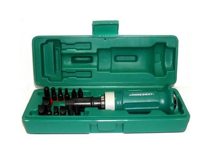Отвертка ударная Jonnesway Ag010138 набор для регулировки фаз грм дизельных двигателей renault nissan dci jonnesway al010183