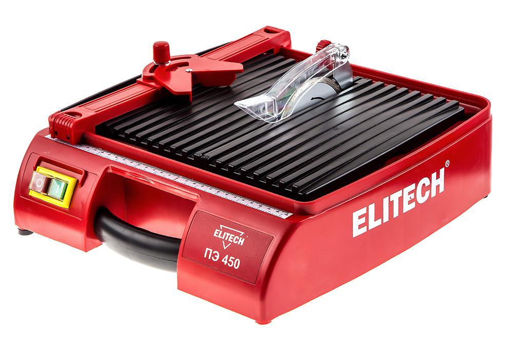 Плиткорез электрический Elitech ПЭ 450 плиткорез elitech пэ 800 62р