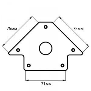 Угольник магнитный Smart&solid Mag601